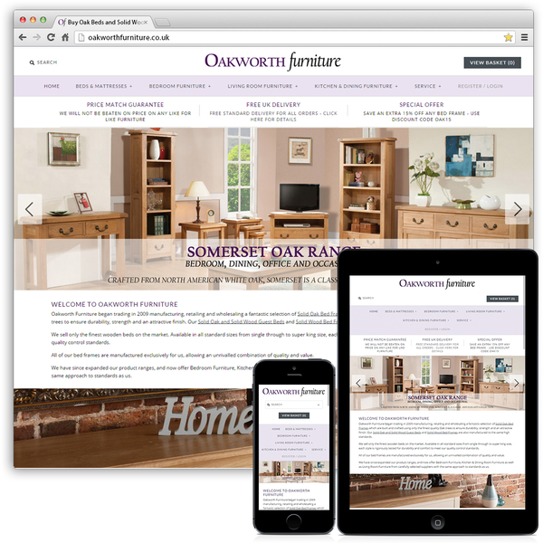 OakworthFurniture - Migration (Magento to Shopify), Consultation, Theme Customisation, Multichannel
