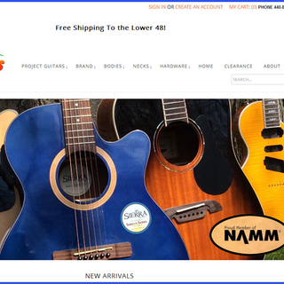 Pinehurst Websites - Ecommerce Setup Expert - Guitar Huggers Project Guitars