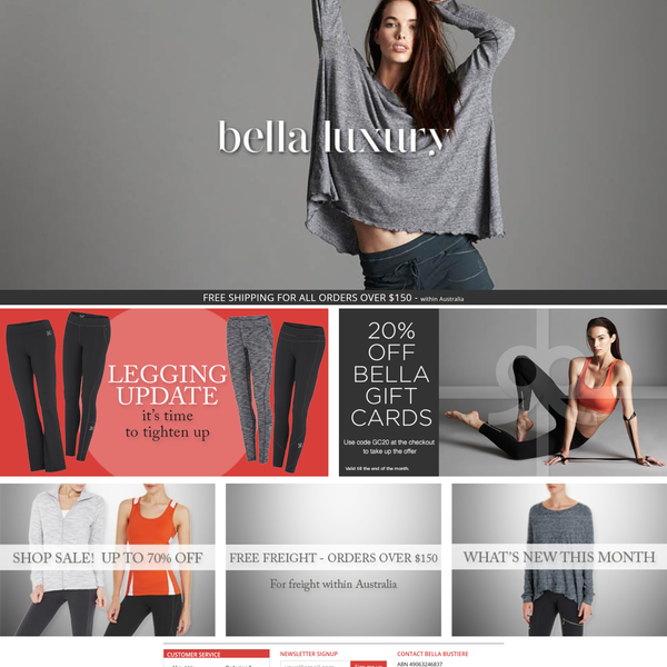 Bella Shopify store