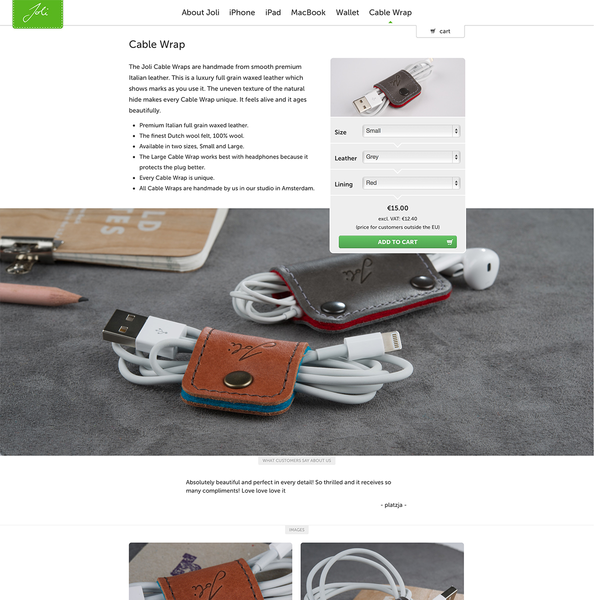 Joli Originals Productpage