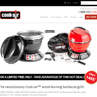 Motion Media - Ecommerce Designer / Developer / Marketer / Setup Expert - Cook-Air BBQ / http://www.cook-air.com/