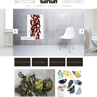 Build customisation following a redesign - http://www.tastyart.co.uk/