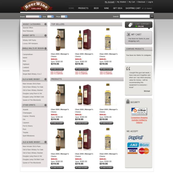 Online Store - mmmm beer