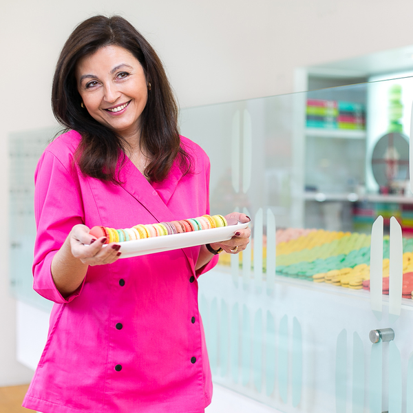 Portrait of Paulette, the owner and chef of Lette Macarons in Beverly Hills