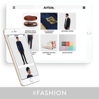 Custom Shopify theme design & development for Article London.