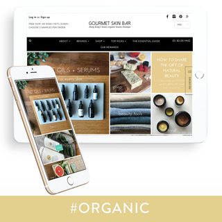 Shopify theme customisation for skincare company GSB