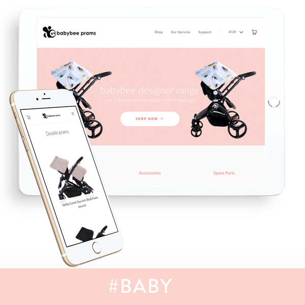 Shopify theme customisation for a pram company in Australia