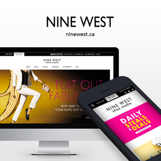 Simplistic combined Nine West's retail and outlet stores on Shopify Plus for simple management.