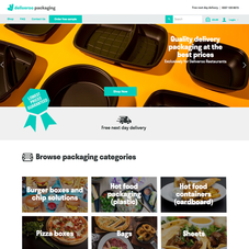 Custom design and coding from A to Z for Deliveroo.