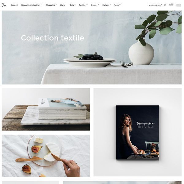 Complete redesign of Trois Fois Par Jour store.