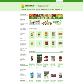 Organic Dried Food: Healthy Food Store