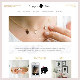 Le Papier Studio: Store migration, customized Shopify theme