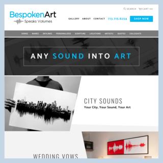 Bespoken Art: Store migration, custom theme design