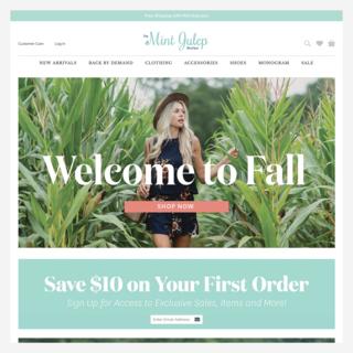 The Mint Julep Boutique: Store migration, custom theme development