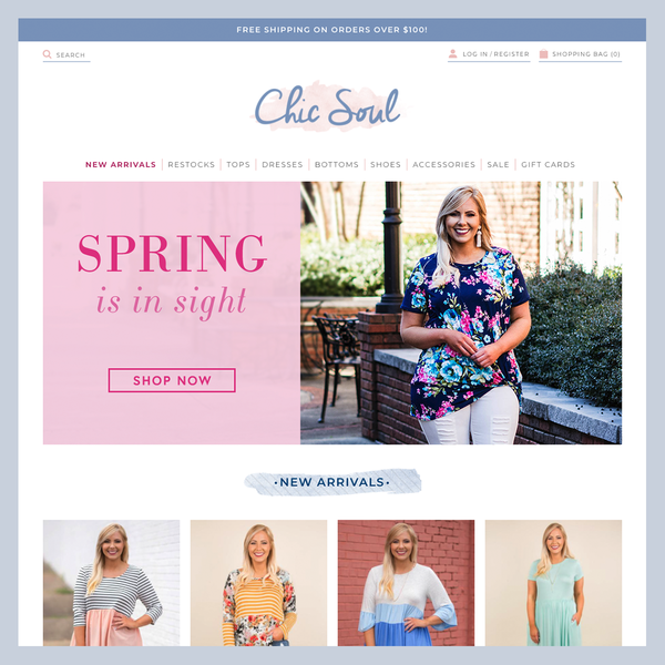 Chic Soul - Custom Shopify development for new startup