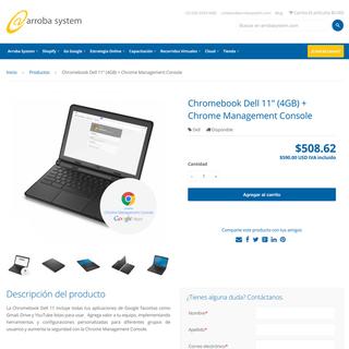 Arroba System - Página web con gran contenido y tienda online