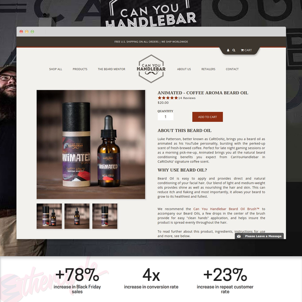 The Retail Leader in Beard Care Launches a Content-first Custom Shopify Theme