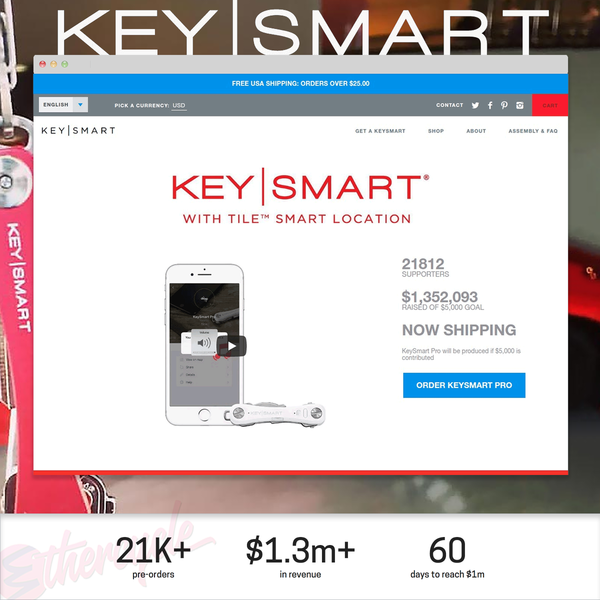 Keysmart Launches Their Newest Product on Shopify With a High-converting Landing Page
