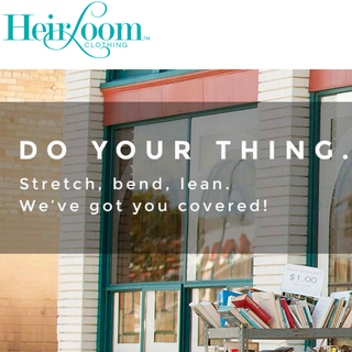 Homepage for http://heirloomclothing.com/