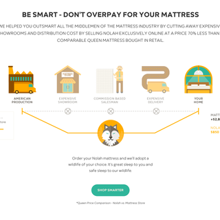 Custom Homepage for https://www.nolahmattress.com/