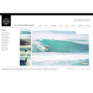 Bondi Advertising - Ecommerce Marketer / Photographer / Setup Expert - Epic lifestyle brand, The Critical Slide Society