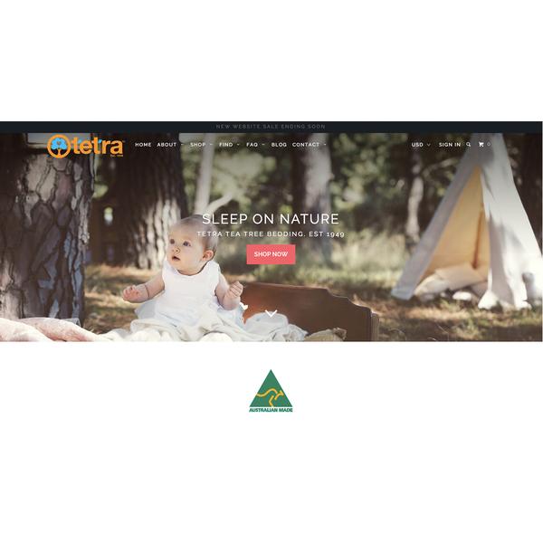 Australian Organic brand, Tetra Tea Tree parrallax website