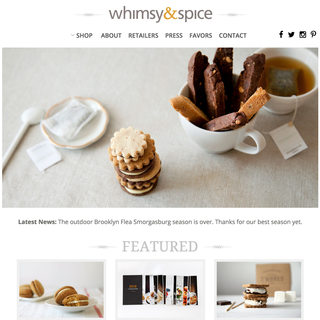 whimseyandspice.com - complete store built