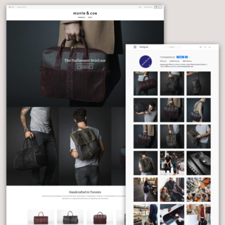 monte and coe - Shopify Store + Instagram