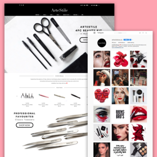 ArteStile - Shopify Store + Instagram
