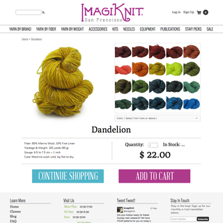 Imagiknit.com Product Page
