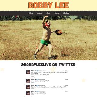 BobbyLeeLive.com Homepage