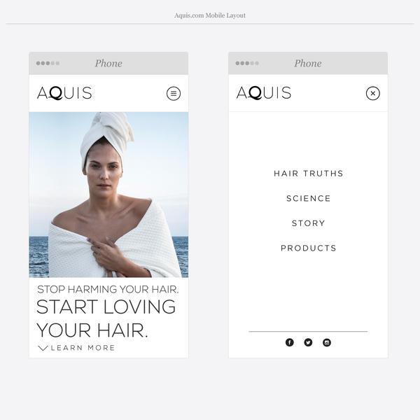 Aquis.com Mobile Layout