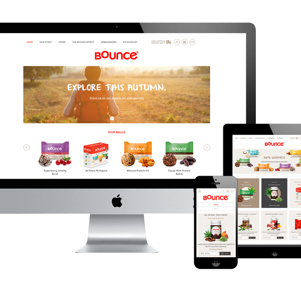 Bounce: Australian website and Shopify store