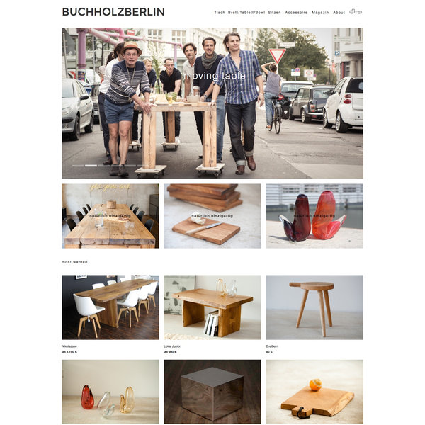 Store For Very Unique Wooden Tables From Berlin