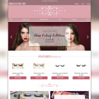Demure Lashes homepage