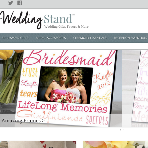 http://www.weddingstand.com | Wedding Gifts, Favors & More