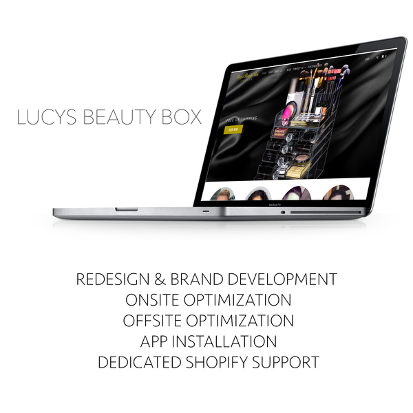 Lucys Beauty Box - Full design & page one results in Google in under 2 months.