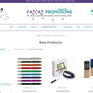 FatCat Promotions - Print your branding on promotional items. www.fatcatpromotions.co.nz