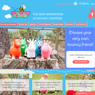 Bouncing Buddies - New generation of bouncy hopper toys. www.bouncingbuddies.co.nz