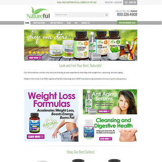 Responsive Shopify Store - Health and Beauty / Wellness / Nutrition - natureful.com
