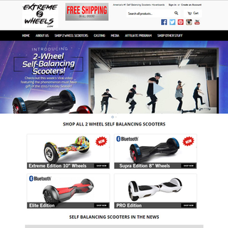 Responsive Shopify Store - Sports / Fitness / Games - Extreme2Wheels.com