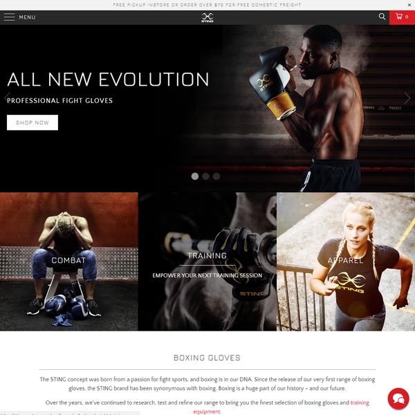 Sting Sports - Boxing, MMA, Fitness Equipment + Accessories