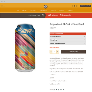 Legendary craft beer producer gaurantees their online shoppers wind up happy