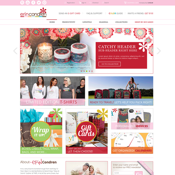 Custom responsive theme development for lifestyle brand.