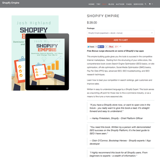 Book: Shopify Empire - The definitive Shopify SEO guide