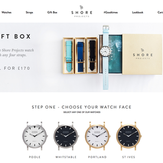 twotwentyseven London Ltd - Ecommerce Designer / Developer / Setup Expert - Shore Projects - showcasing the timeless quality of their watches
