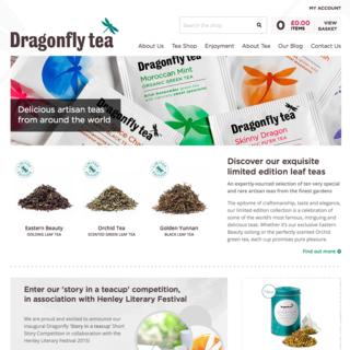 twotwentyseven London Ltd - Ecommerce Designer / Developer / Setup Expert - Dragonfly Teas - 100 years of heritage brought into the digital age