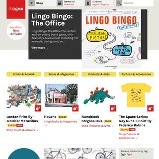 twotwentyseven London Ltd - Ecommerce Designer / Developer / Setup Expert - Magma Books - London's favourite independant book and product shop online