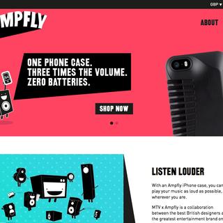 twotwentyseven London Ltd - Ecommerce Designer / Developer / Setup Expert - Ampfly Sound - batteryless amplification of your mobile music, promoted by MTV
