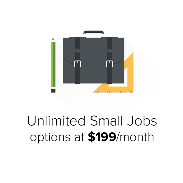 Unlimited Small Jobs options at $199/month
